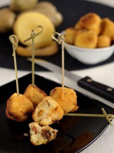 Polpettine di patate e peperoni cruschi