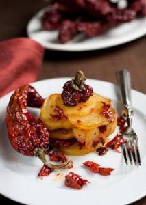tortiera-baccala-tronchetti-di-peperone secco